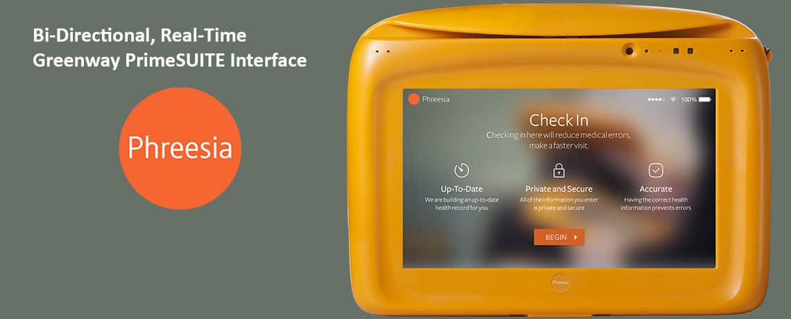 Phreesia Patient Check In Tablets For Greenway